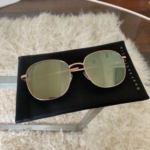 Quay Gold Sunglasses